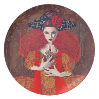 The Red Queen. Party Plate