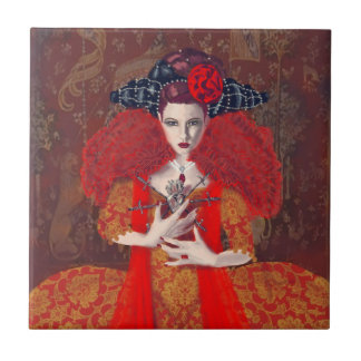 The Red Queen Ceramic Tile