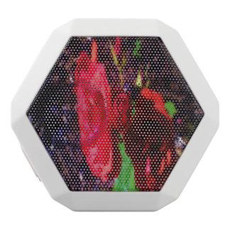 The Red Rose Flower White Boombot Rex Bluetooth Speaker