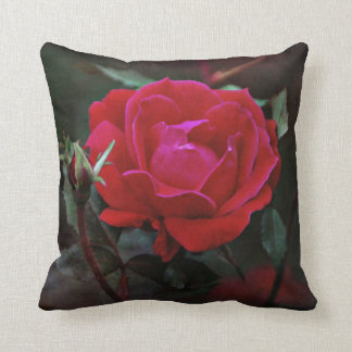 The Red Rose in Bloom Cushion