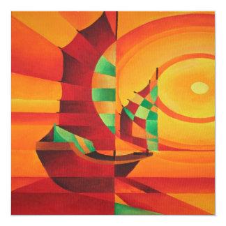 The Red Sea 13 Cm X 13 Cm Square Invitation Card