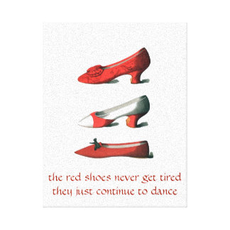 The Red Shoes Art Stretched Canvas Print