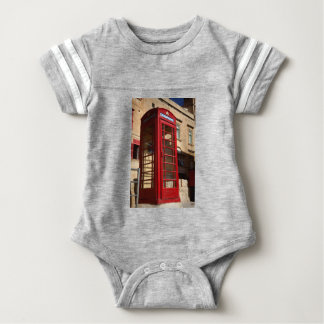 The red Telephonebox Baby Bodysuit