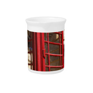 The red Telephonebox Pitcher