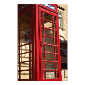 The red Telephonebox Stationery