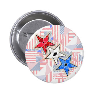 The Red The White The Blue Stars and Stripes Buttons
