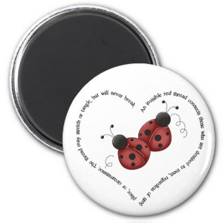 The Red Thread 6 Cm Round Magnet