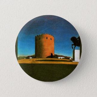 The red tower by Giorgio de Chirico 1913 6 Cm Round Badge