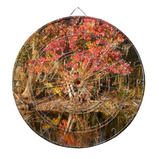The Red Tree at Sunset Dart Boards