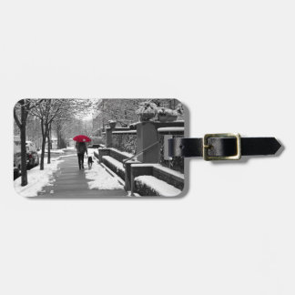 The Red Umbrella Luggage Tag