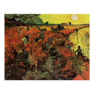 The Red Vineyard by Vincent van Gogh. Poster