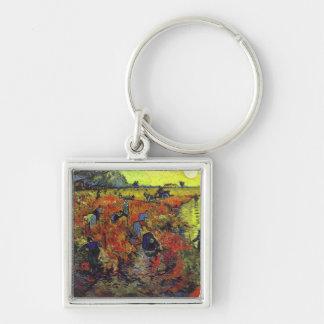 The Red Vinyard by Vincent Van Gogh Key Ring