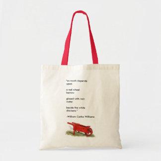 The Red Wheelbarrow Tote Bag