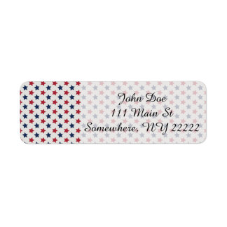 The Red White and Blue Return Address Label