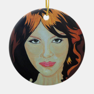 THE RED WITCH ROUND CERAMIC DECORATION