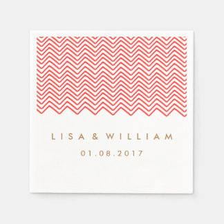 The Red Zig Zag Wedding Paper Napkin