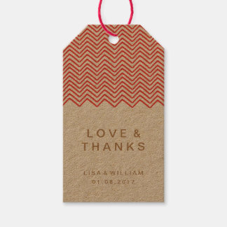 The Red Zig Zag Wedding Thank You Favor Gift Tags