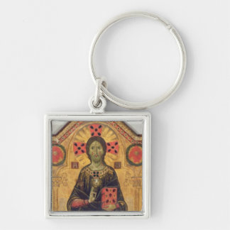 The Redeemer Virgin and Saints 1271 tempera on Key Chain