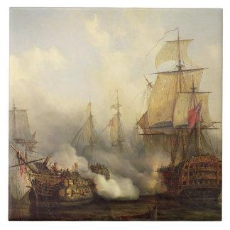 The Redoutable at Trafalgar, 21st October 1805 Ceramic Tile