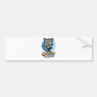 The Reduced Break Crazy Cat! Bumper Sticker