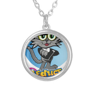 The Reduced Break Crazy Cat! Silver Plated Necklace