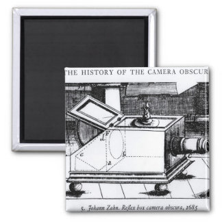The reflex box camera obscura magnet