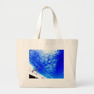 The refreshing blue sky which is clear* Under Large Tote Bag