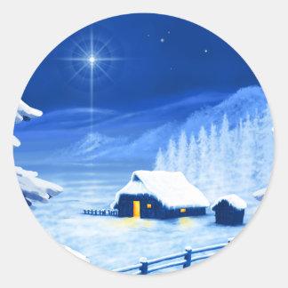 The refuge under the Christmas star Sticker