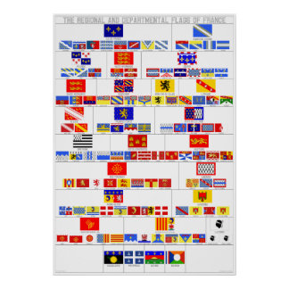 The Regional and Departmental Flags of France Poster