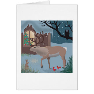 The Reindeer note card