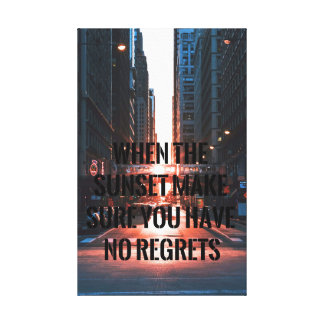 The reminder- inspiring sunset-motivating canvas print