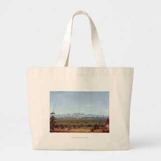 The Rendezvous Near Green River Large Tote Bag