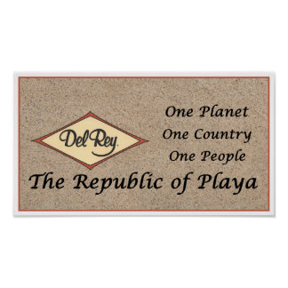 The Republic of Playa on Toes Beach Sand Poster