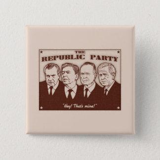 The Republic Party 15 Cm Square Badge