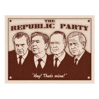 The Republic Party Postcard