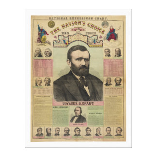 The Republican Chart Ulysses S Grant by M T Boyd Canvas Prints