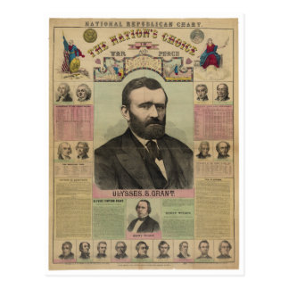 The Republican Chart Ulysses S Grant by M T Boyd Postcard