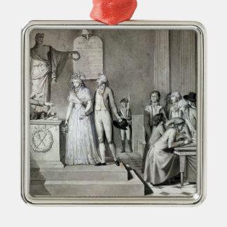 The Republican Marriage Silver-Colored Square Decoration