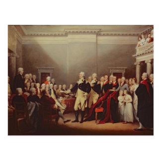 The Resignation of George Washington Postcard