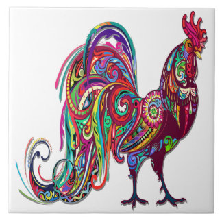 The Resplendent Rooster Tile