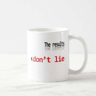 The Results Don't Lie Coffee Mug