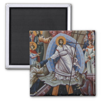 the Resurrection of Jesus Square Magnet