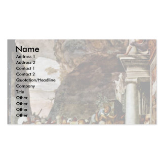 The Resurrection Of Lazarus By Boccaccino Camillo Business Cards