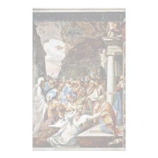 The Resurrection Of Lazarus By Boccaccino Camillo Stationery