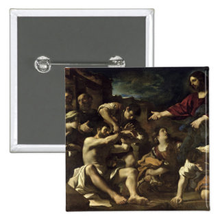 The Resurrection of Lazarus c 1619 Pinback Buttons