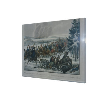 The retreat of the French army from Moscow Canvas Print