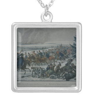 The retreat of the French army from Moscow Silver Plated Necklace