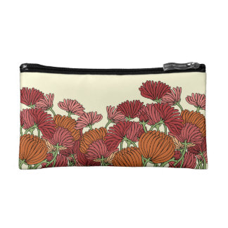 The Retro Flower in the Garden Cosmetic Bag