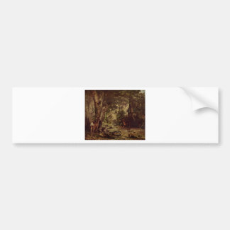 The Return of the Deer to the Stream at Plaisir Fo Bumper Sticker
