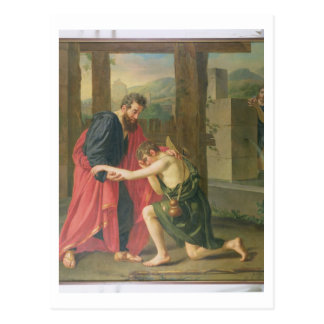 The Return of the Prodigal Son, 1823 (oil in canva Postcard